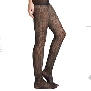 *3for$30 Black fishnet pantyhose made in Italy NWT